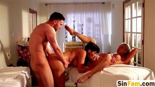Big Tit Blonde Pool Threesome