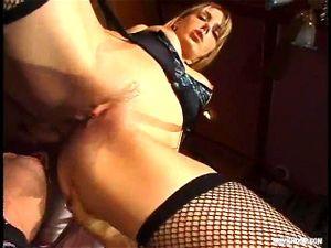 Woman with long clitoris fucking girls