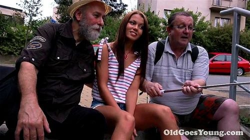 SOFIA LIKES SHOWING THE OLD TOURISTS THE WAY TO HER PUSSY
