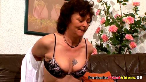Watch Horny German Mature Sucks And Rides Brunette Mature