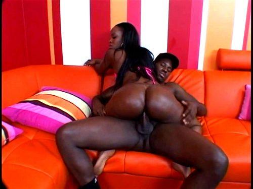 Thick dime ebony riding dick