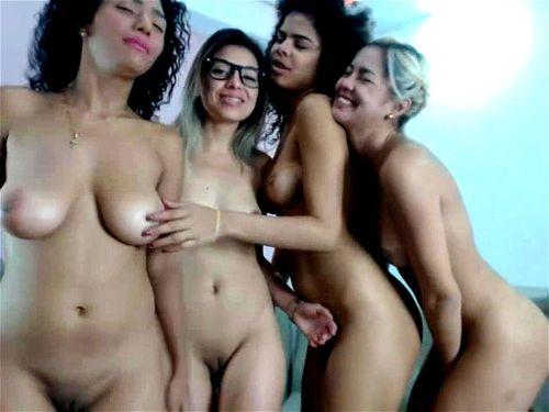 Latina Lesbian Webcam Kissing
