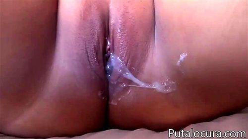 Watch Chubby Latina Double Pussy Creampie Chubby Creampie