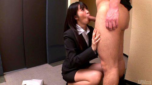 innocent girl taken advantage in hallway - Kotomi Asakura, Otoha Nanase, Asian, Big Dick, (フェラ)blowjob, Cumshot