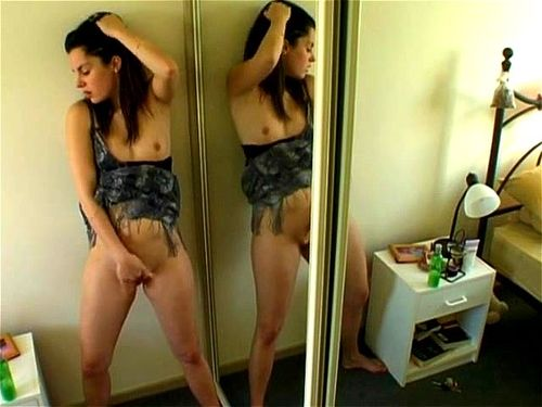 Orgasm in front of mirror, nude amateur selfies female