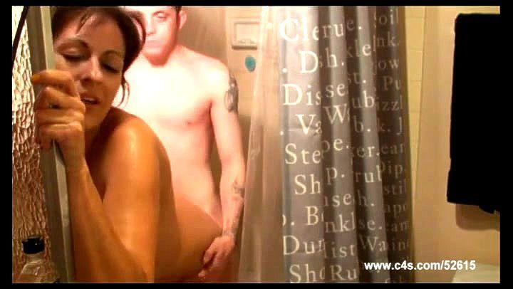 Girls Kissing The Shower