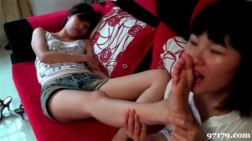 Chinese Foot Worship Handjob