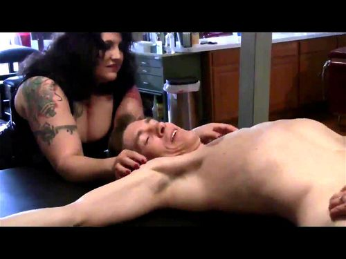 Guy gets tied down and tickled