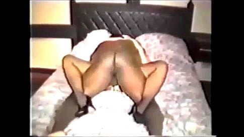 Blonde in sexy neon outfit reaches orgasm with BBC lover