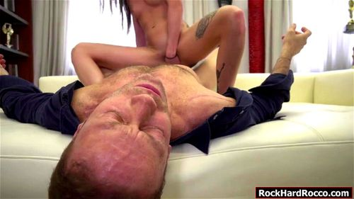 Tina and Marica gets their tight ass fucked by Roccos big cock