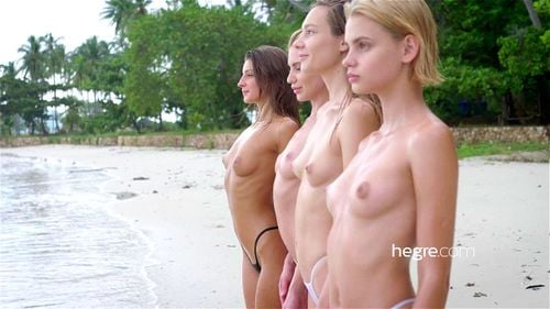 4 Nude Beach Nymphs - Ariel Lilit, Beach, Hegre Art ...