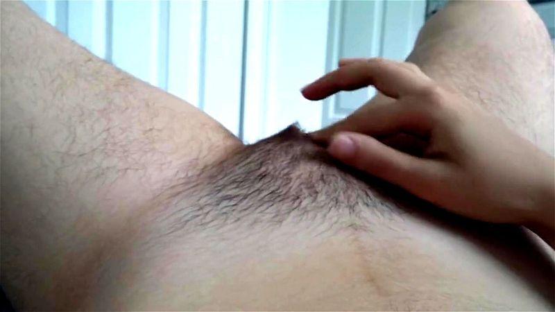 Hairy Asian Teen Masturbation