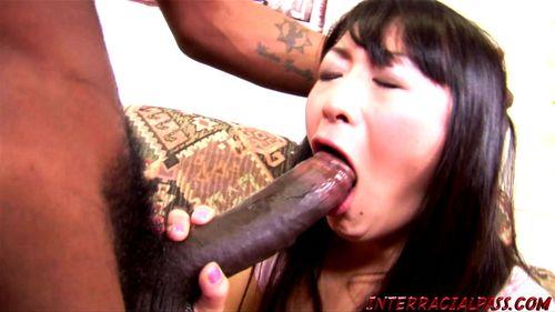 Asian wife takes huge black cock - Lena Lang, Evelyn Lin, Asian Bbc, Bbc, Fucked, Interracial Wife Porn