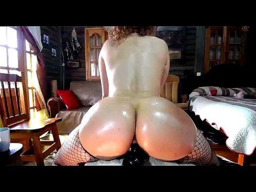Big Ass Ebony Riding Dildo