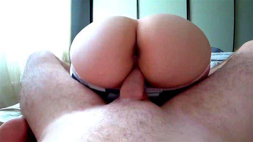 Big Ass Riding Huge Dildo