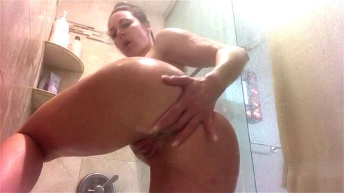 strip ebony Shower tease