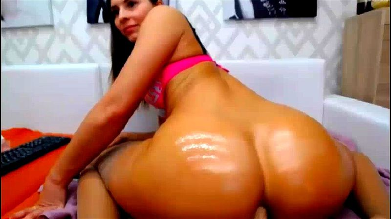 Thick Ass Latina Riding Dildo