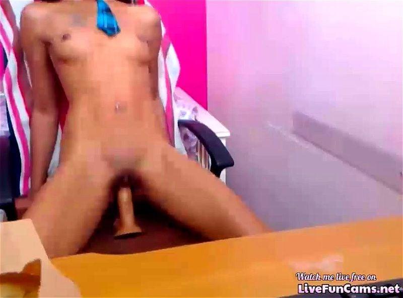 Ebony Wet Pussy Masturbation