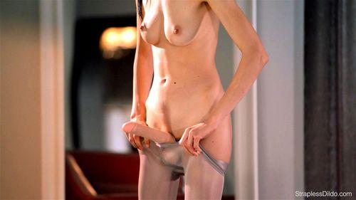 Strapless Dildo - 2 gorgeous ladies in pantyhose fuck their dildo - Babe, Lesbian, Small Tits, Toy, Strapless Dildo, Pantyhose And High Heels Porn