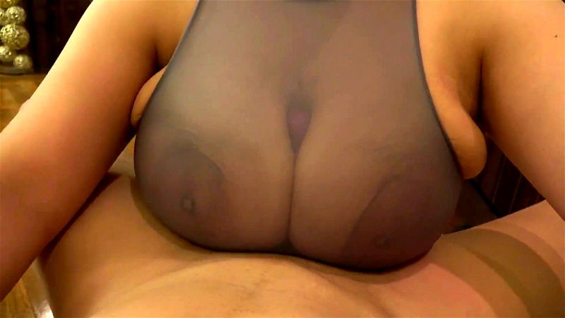 Big Boobs Clothed Tittyfuck with See-through on