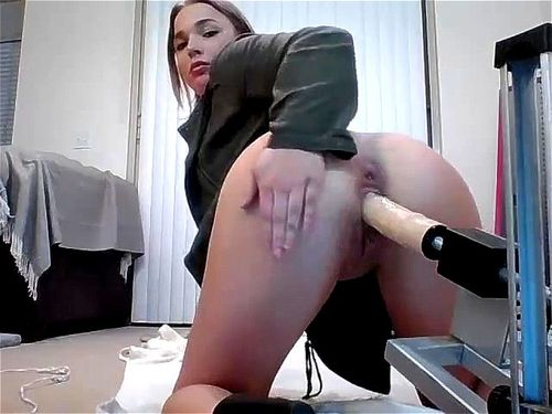 Big Tits Dildo Anal Machine