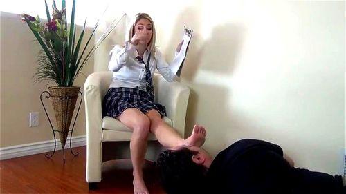 Blonde Lesbian Foot Worship
