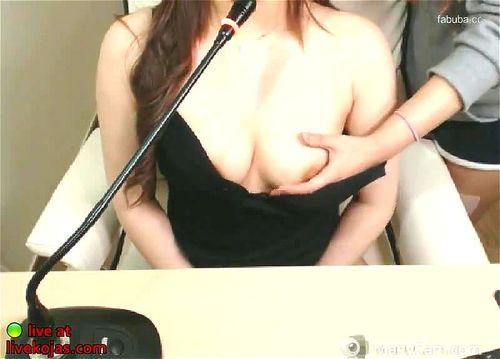 Asian cute redhead camgirl teasing