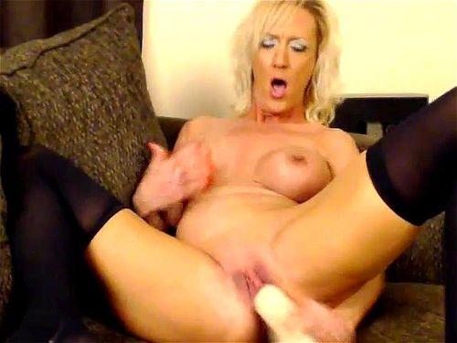 Milf Stockings Big Dildo