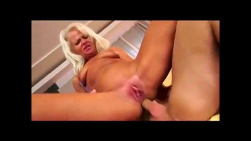 Tall Blonde Anal Creampie