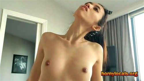 Tiny Teen Riding Big Dildo