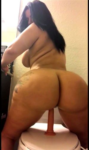 Latina Riding Dildo Feet