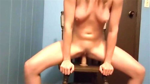 Housewife plays with dildo