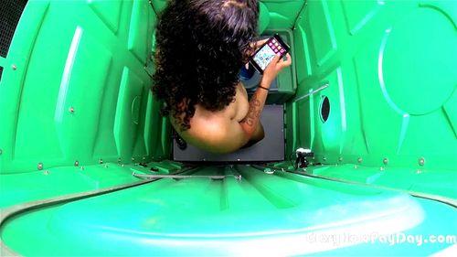 Black girl sucks white dick in porta potty full Watch Black Girl Sucks White Dick In Porta Potty Ebony Public Blowjob Porn Spankbang