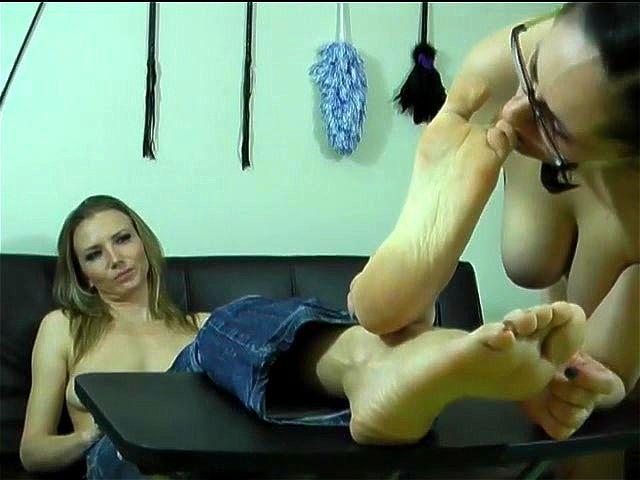 Lesbian Tickle Feet Worship
