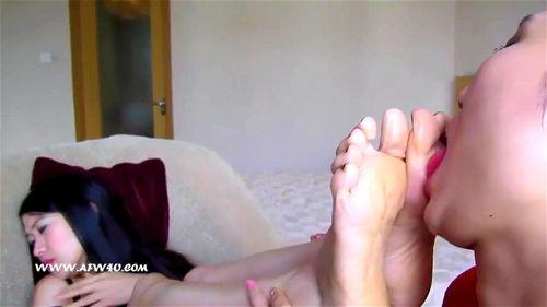 Brazilian Lesbian Foot Slave