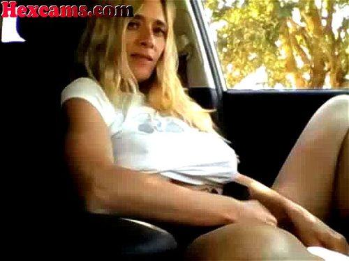 Ebony Feet Car Masturbation