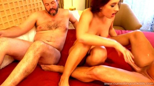 Watch Hubby guides another mans cock into wifey - Addison Ryder - Addison Ryder, Wife, Cuckold, Wife Sharing, Brunette, Fetish Porn