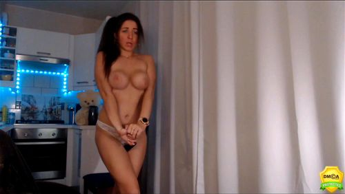 Busty babe DualChilli teases at home
