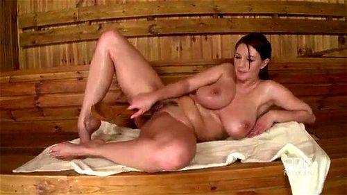Vanessa in the Sauna