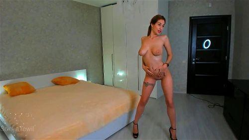Busty Ukrainian blonde SonyaTewil flashes her hot body on webcam