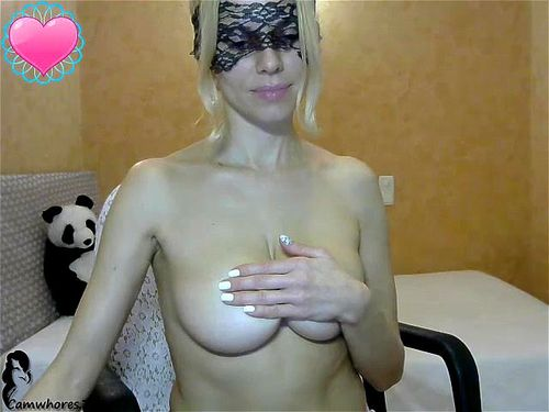 Busty blonde Milenadream teases on livechat