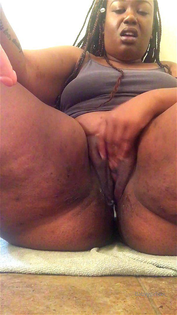 Thick Ebony Bbw Masturbation
