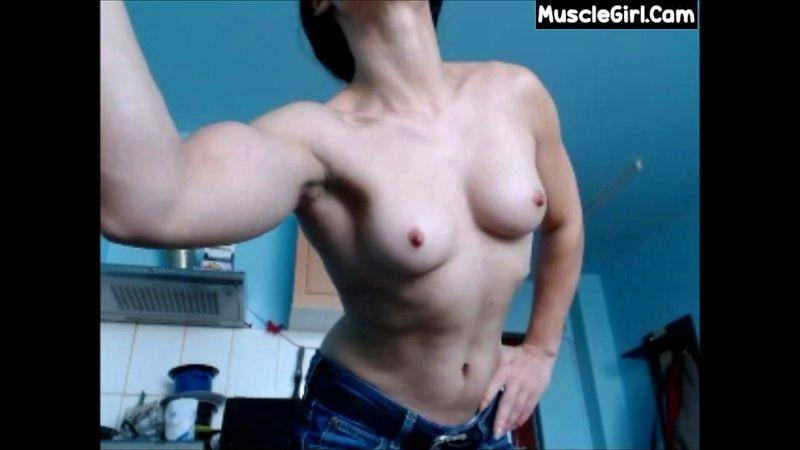 Webcam Girls Flexing Biceps