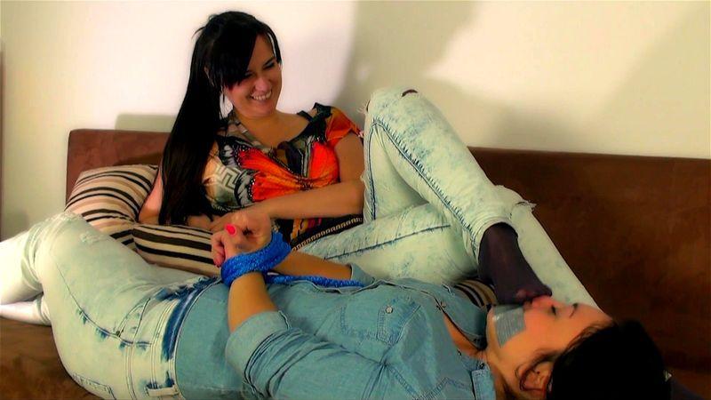 Tied Lesbian Foot Worship