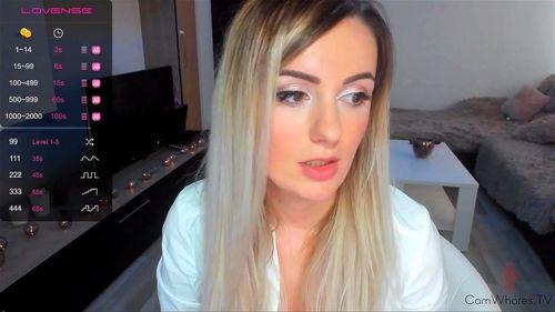 Sexy blonde SweetyArya webcam tease