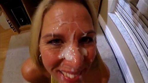 Facial porn blonde Teen Facial