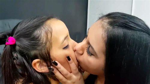 Watch Brazilian Rough Kissing! - Brazil, Lesbian Kiss, Brazil Lesbians, Kissing Domination, Fetish, Lesbian Porn