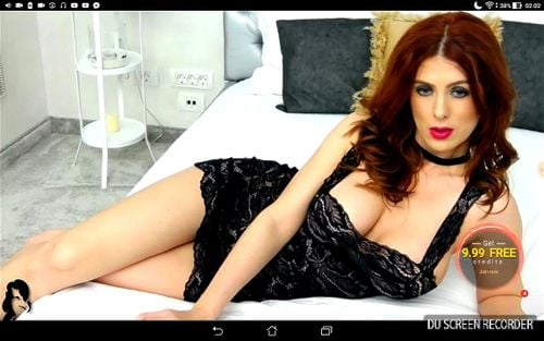 Busty Romanian redhead NinaKatz hot webcam tease