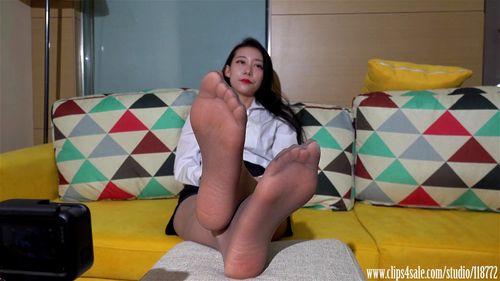 Foot tease nylon Before you