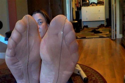 Feet dirty nylon Dirty Feet